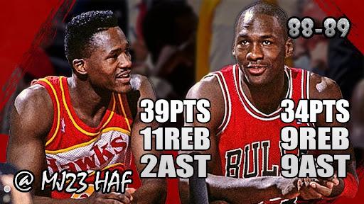 November 18, 1988(11/18/1988),Michael Jordan@ATL,34pts