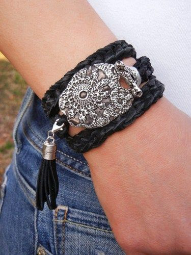 Best Fall Jewelry, Leather Wrap Bracelet, Fall Leather Wrap Bracelet