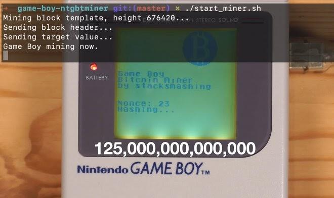 Моддер превратил Game Boy в установку для майнинга биткоинов