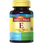 Nature Made Vitamin E, 180 mg, Softgels - 100 softgels