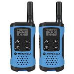 Motorola T100 22-CH 16 Mile Two-Way Radio, 2 Pack, Neon Blue T100