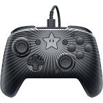 PDP Faceoff Wired Pro Star Mario Controller for Switch and Faceplate
