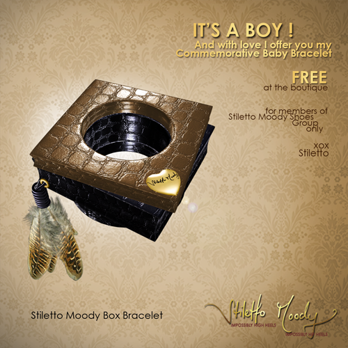 Stiletto Moody baby boy - Free Commemorative Bracelet