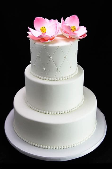 Quilting, Pearl, Pink Magnolia Wedding Cake   Butterfly