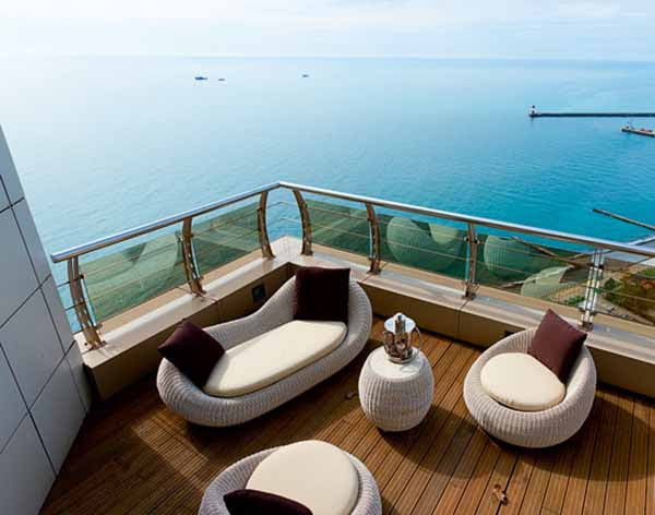 3 Story Penthouse in Sochi, Nautical Decor, Luxurious Contemporary ...