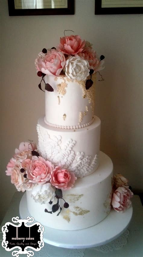 Vintage Pink Peony   CakeCentral.com