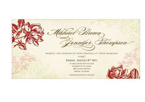 Wedding Invitation Templates   Wedding Invitation