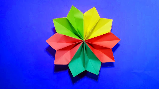 Edward thomas google how to make very easy and simple room decorate paper flower tutorial origami flower mightylinksfo