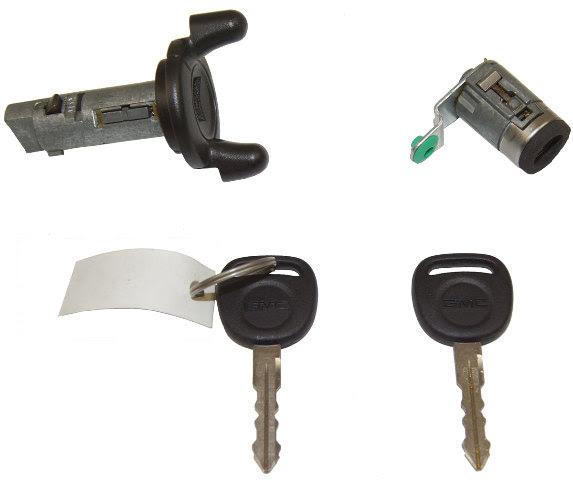 GMC Ignition Lock Cylinder + Door Lock Cylinder + 2 Keys W ...
