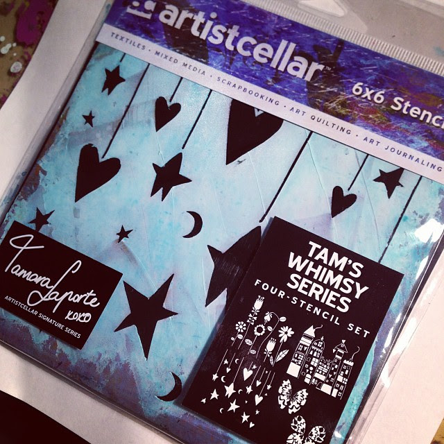 Giddy with excitement! I have 2 sets of stencils out with Artistcellar!! A blog hop with info and give aways starts today. Info in my blog later today. :)
