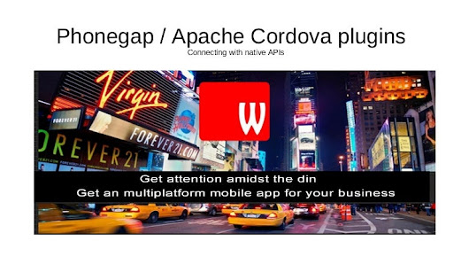Apache Cordova phonegap plugins for mobile app development