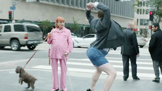 Man With Large Butt Struts and Twerks in 7-Inch Heels in Barmy British Ad