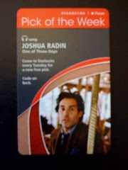 Starbucks iTunes Pick of the Week - Joshua Radin - One of Those Days