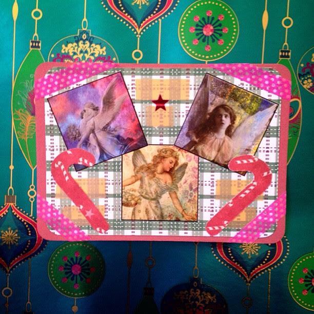 #angels #washitape #candycane #christmas #snailmail #postcard