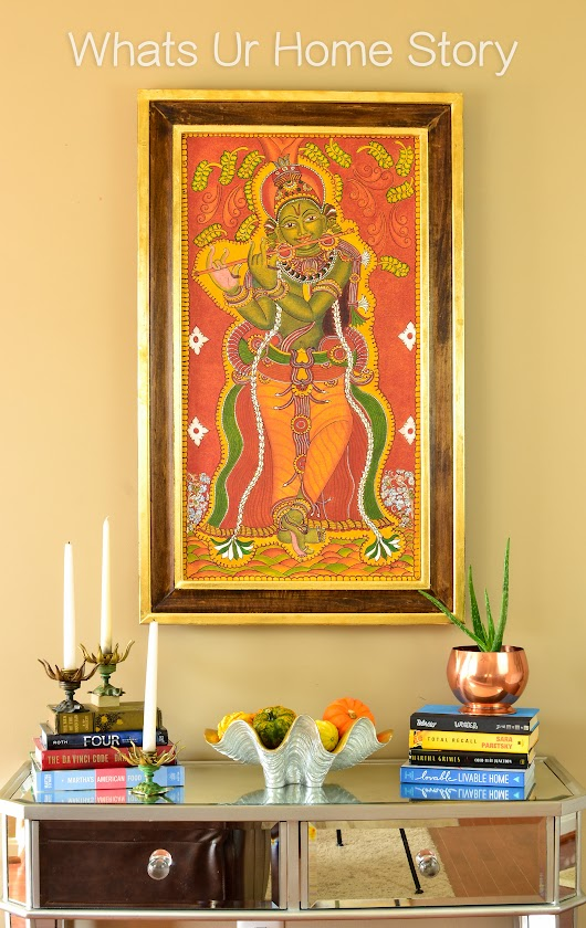 My Mom's Krishna Mural Painting & a DIY Frame - Whats Ur Home Story