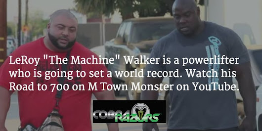 "LeRoy ""The Machine"" Walker is as cool as he is large! BFC ... big fella cool! 
