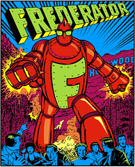 Frederator Fredbot sign [poster size]