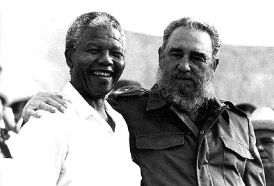 Former South African President Nelson Mandela and former President Fidel Castro in Cuba during 1991. Mandela praised the role of Cuba in the liberation of southern Africa. by Pan-African News Wire File Photos