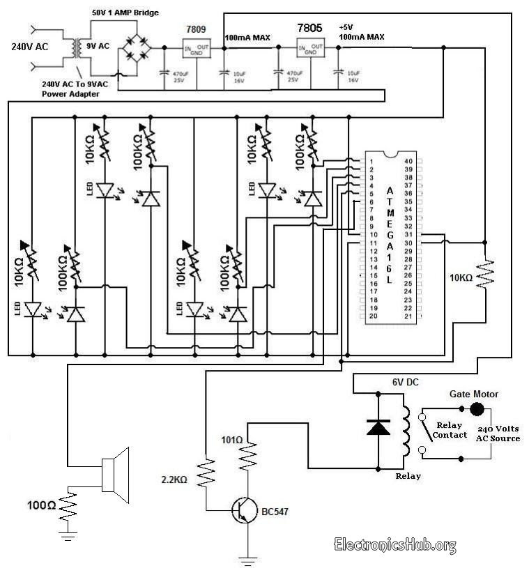 Automatic Railway Gate Controller with Circuit Diagram