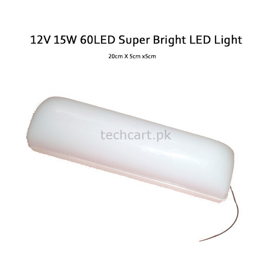 DC 12V 15W Super Bright 60LED Light for Home & Office Price in Pakistan