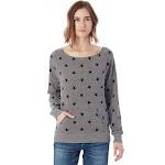 Alternative - Eco-Fleece Women's Maniac Sweatshirt - 9582, Eco Grey Stars