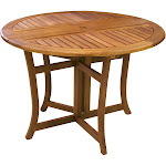 "Outdoor Interiors Eucalyptus 43"" Round Folding Table"
