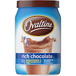OVALTINE Rich Chocolate Flavored Milk Mix 12 oz. Canister