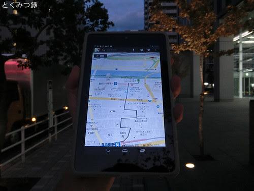 Nexus7 Googleマップ