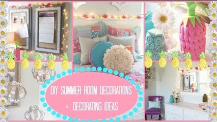 Fashionistalove22 Room Tour DIY Summer Room Decorations
