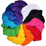 Cotton Scrunchies (Rainbow Assortment), 10 piece Pack
