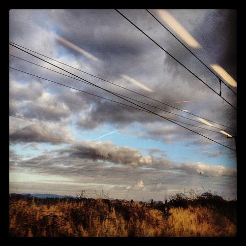 Scotland #clouds #saltire #landscape