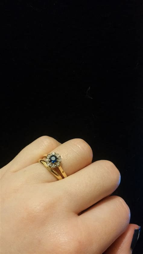 Show me your Engagement ring and Wedding band GAP! non
