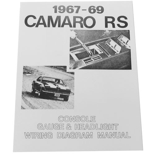 1967 1969 Camaro Rally Sport Rs Wiring Diagram