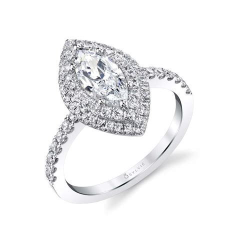 Claudia   Marquise Double Halo Engagement Ring   Sylvie
