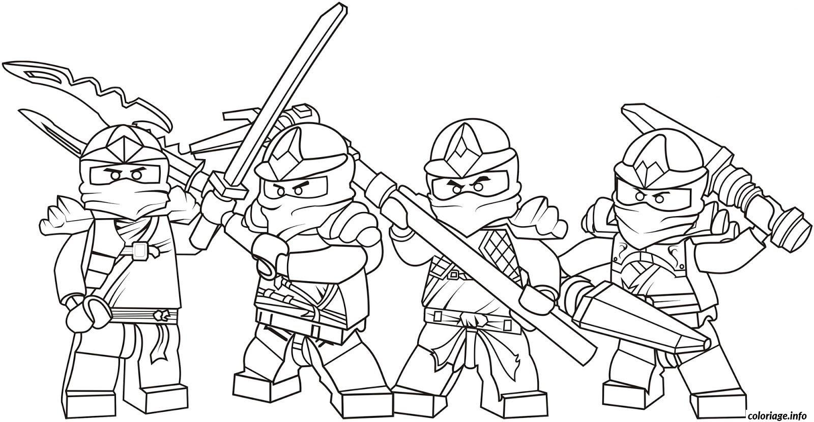 Coloriage Lego Ninjago Team Dessin  Imprimer