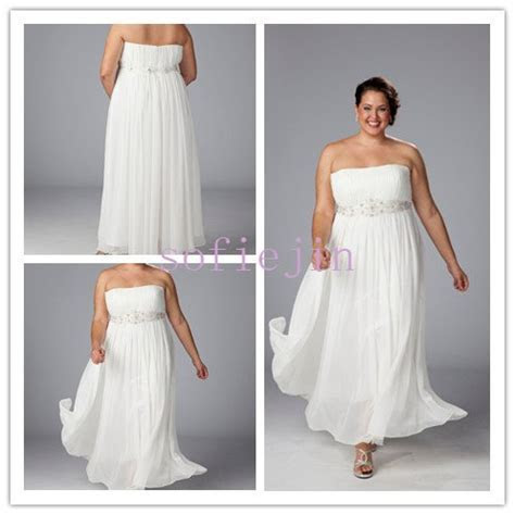 elegant chiffon ankle length casual beach wedding dresses