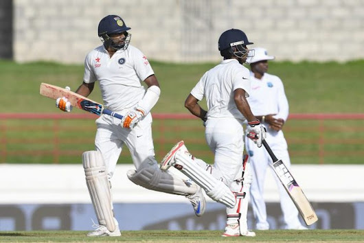 West Indies v India 3rd Test Day 1: Ashwin and Saha Get India Back on Track