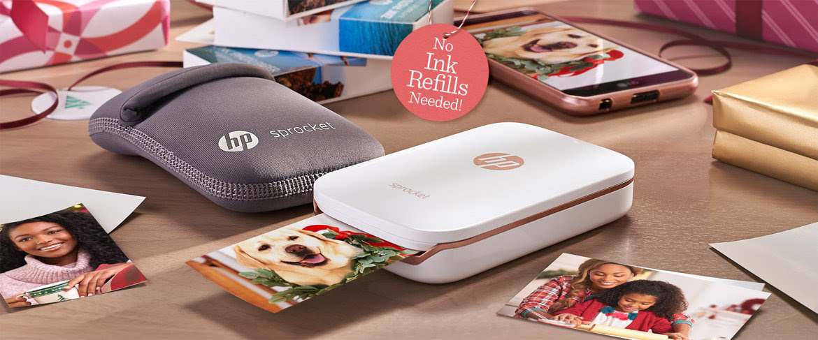 Qvc Hp Sprocket Portable Photo Printer For Devices W Case 3 Paper