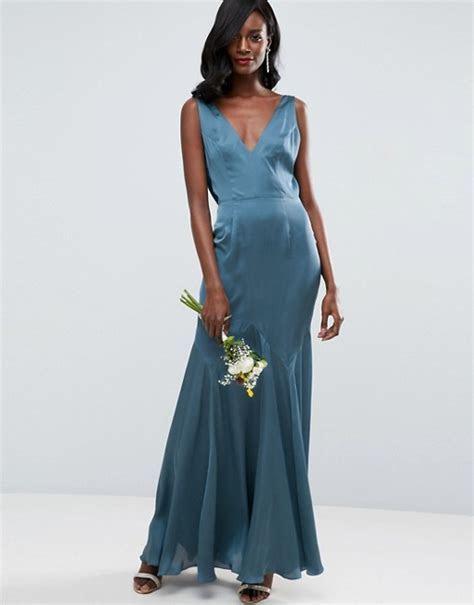 ASOS Wedding Premium Drape Cowl Back Cami Maxi Dress