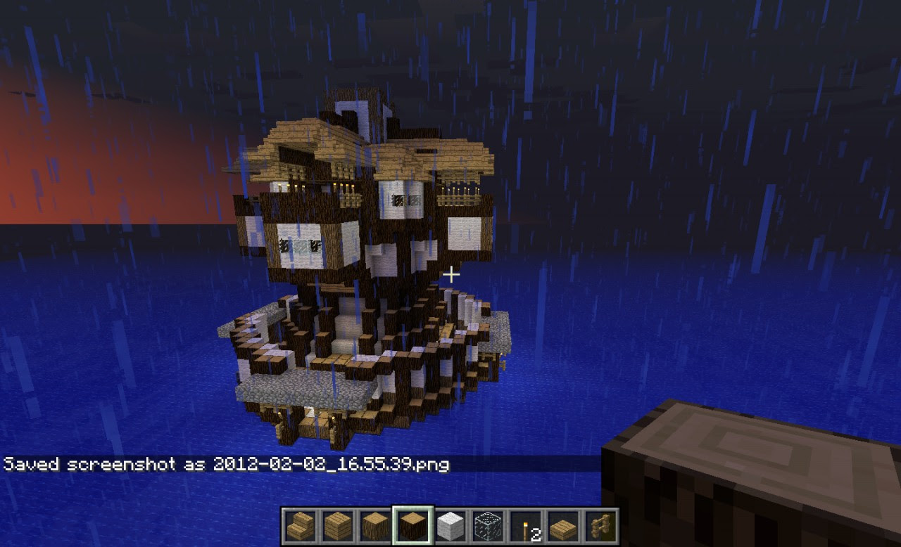 Minecraft Water Fortress/House Minecraft Project