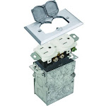 84001, Nickel Recess Floor Box Flip-Single