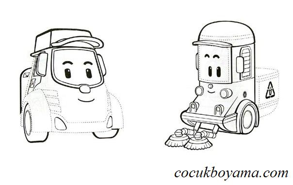 Robocar Poli ücretsiz Boyama Resimleri