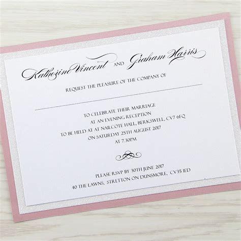 Sparkle Evening Invitation   Pure Invitation Wedding Invites