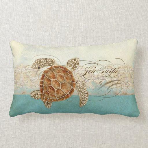 Throw Pillow, Beachy Chevrons from Zazzle.