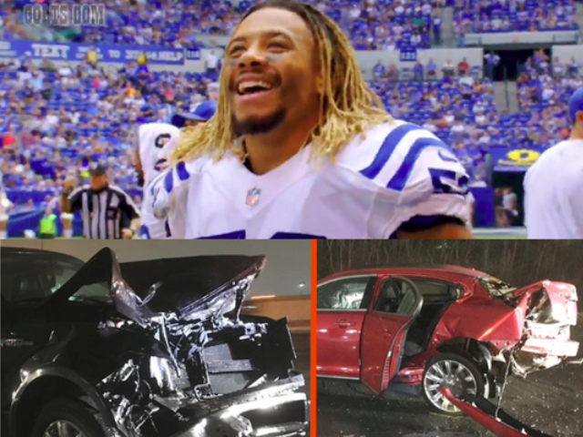 Car crash where Indianapolis Colts linebacker Edwin Jackson was killed by an alleged illegal alien drunk driver.
