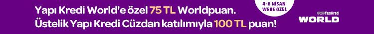 Yapı Kredi World'e Özel 75 TL Worldpuan. Üstelik Yapı Kredi Cüzdan Katılımıyla 100 TL Puan!