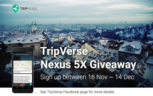 Enter to Win a Google Nexus 5X Smartphone with TripVerse | The Barefoot Nomad