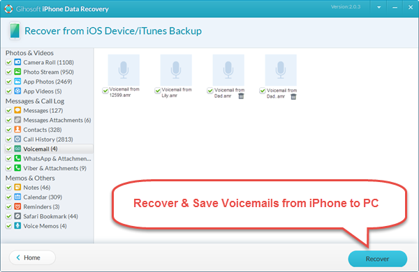 How to Save \u0026 Recover Voicemails from iPhone to Computer