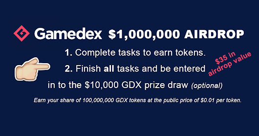 Gamedex.co Official Bounty Program Airdrop