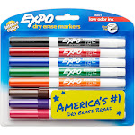 Expo Dry Erase Markers, Fine Point, Intense Colors - 8 pack